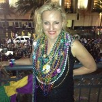 Becca Hensley with Beads - Mardi Gras 2013