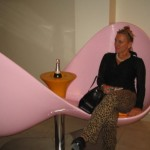 becca-hensley-pink-chair-leopard-pants-veuve-clicquot